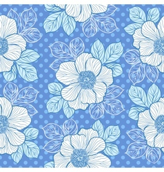 Seamless pattern with peony vector