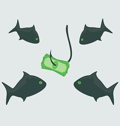 Business shark with money vector