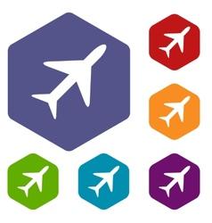 Plane rhombus icons vector