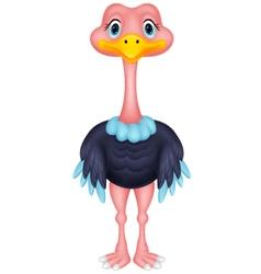 Ostrich cartoon vector