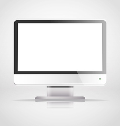 Modern lcd monitor template vector