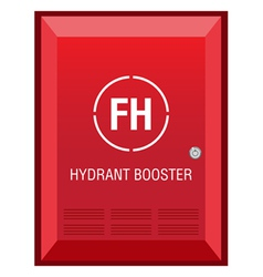 Fire hydrant booster sign vector