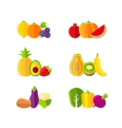 Healthy diet design elements with fruits vector