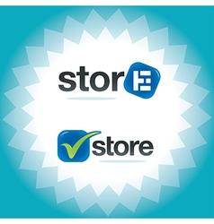 Internet store symbols vector