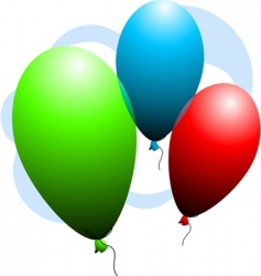 Color balloons vector