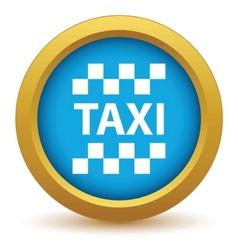 Gold taxi icon vector