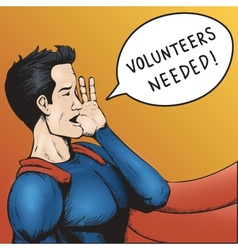 Volunteers wanted cartoon vector