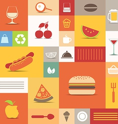 Food icons collection vector