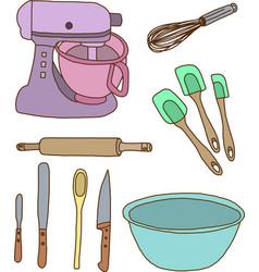 Baking items vector