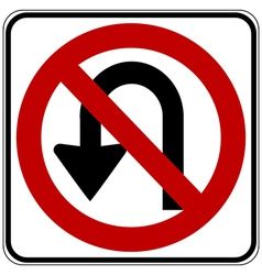 No u turn vector
