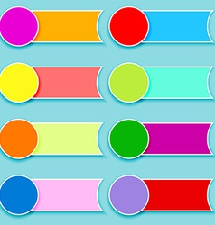 Set of multicolor tags vector