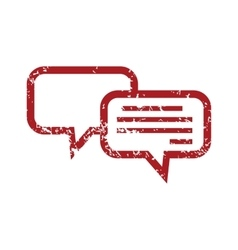 Chatting red grunge icon vector