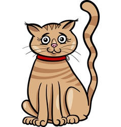Female cat cartoon vector