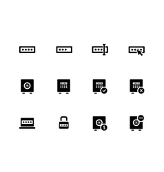 Password icons on white background vector