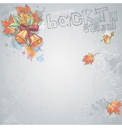 Background image for text with a school bell and vector