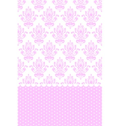 Pink and white wallpaper vector
