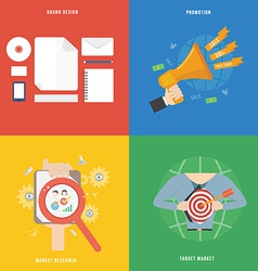 Element of marketing concept icon in flat design vector