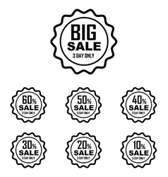 Big sale best offer badge line sticker label vector