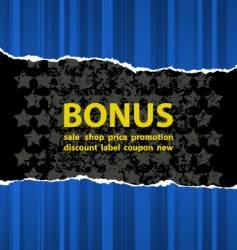 Blue bonus vector