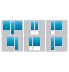 Types of balconies vector
