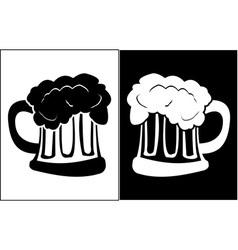 Glass of beer vector