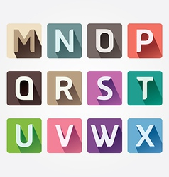 Alphabet colorful font with sahdow style vector