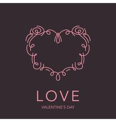 Heart frame - love design for valentines day logo vector