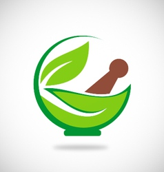 Eco herbal traditional medicine logo vector