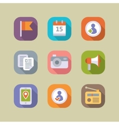 Social media icons set mobile apps vector