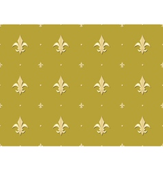 Seamless pattern with royal lilies vector