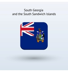 South georgia and south sandwich islands flag icon vector