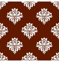 White colored floral seamless pattern vector