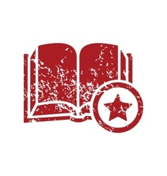 Favorite book red grunge icon vector
