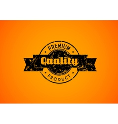 Old used quality badge for your product vector