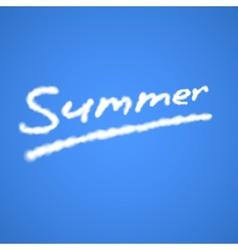 Summer cloudy text vector