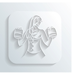Oktoberfest woman icon vector