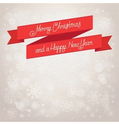 Postcard merry christmas beige background with vector