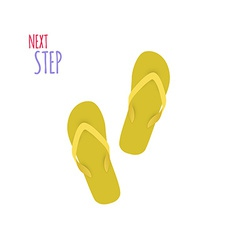 Next step slippers banner vector