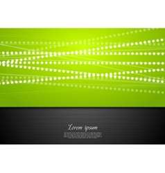 Abstract green and black shiny background vector