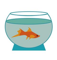 Small fish in an aquarium vector