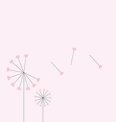 Heart dandelion vector
