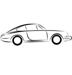 Car racing auto logo line art vector