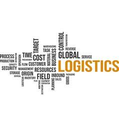 Word cloud logistics vector