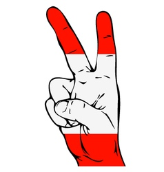 Peace sign of the austrian flag vector