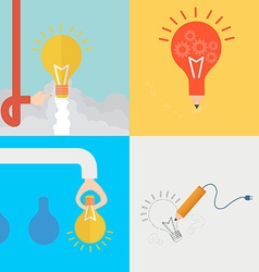 Element of idea concept icon in flat design vector