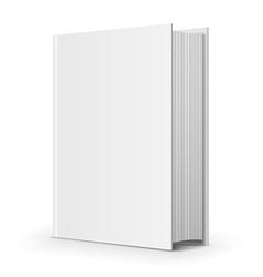 Bold blank book vector