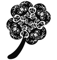Ornate clover leaf vector