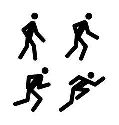 Running pictograms vector