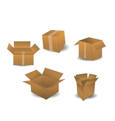 Boxes isolated on white vector