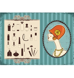 Vintage woman fashion vector